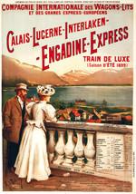 Train POSTER.Stylish Graphics.Engadine Express. Train de luxe Decor.1818 - $10.89+