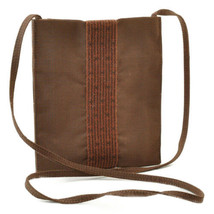HERMES Ale Line Canvas Mini Shoulder Bag Brown Auth 9558 - $190.00