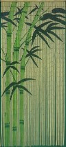 Natural Bamboo Beaded Curtain Green Bamboo Scene Beads Window Doors Room... - $66.32