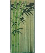 Natural Bamboo Beaded Curtain Green Bamboo Scene Beads Window Doors Room... - $66.32