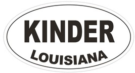 Kinder Louisiana Oval Bumper Sticker or Helmet Sticker D3844 - $1.39+