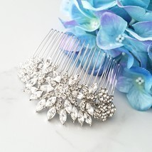 Statement Bridal Hair Comb, Focal Hair Comb, Flower Hair Comb, Large Com... - $70.00
