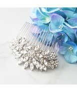 Statement Bridal Hair Comb, Focal Hair Comb, Flower Hair Comb, Large Com... - £50.25 GBP