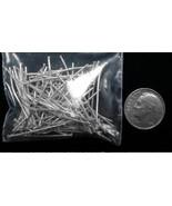 Argento Placcate Gioielli Spilli con Testa 100 Pc 2.5cm fhs003 - $1.95