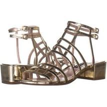 Nine West Xerxes Low-Heel Dress Sandals 332, Light Gold, 7.5 US - $32.63