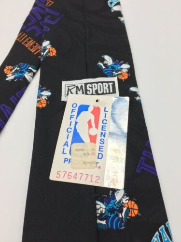 Vintage Ralph Marlin Mens Neck Tie Charlotte Hornets Basketball Unworn w tag  image 6