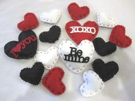 Lot of (15) Valentines Hearts Felt Decorations Bowl Basket filler - $13.50