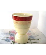 Vintage Susie Cooper Wedding Ring Double Egg Cup Rust Tan Grey Bands 40s - $13.00