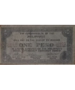 PHILIPPINE Paper Money: Bohol Emergency Currency Board One Peso #60073 1943 - $4.95