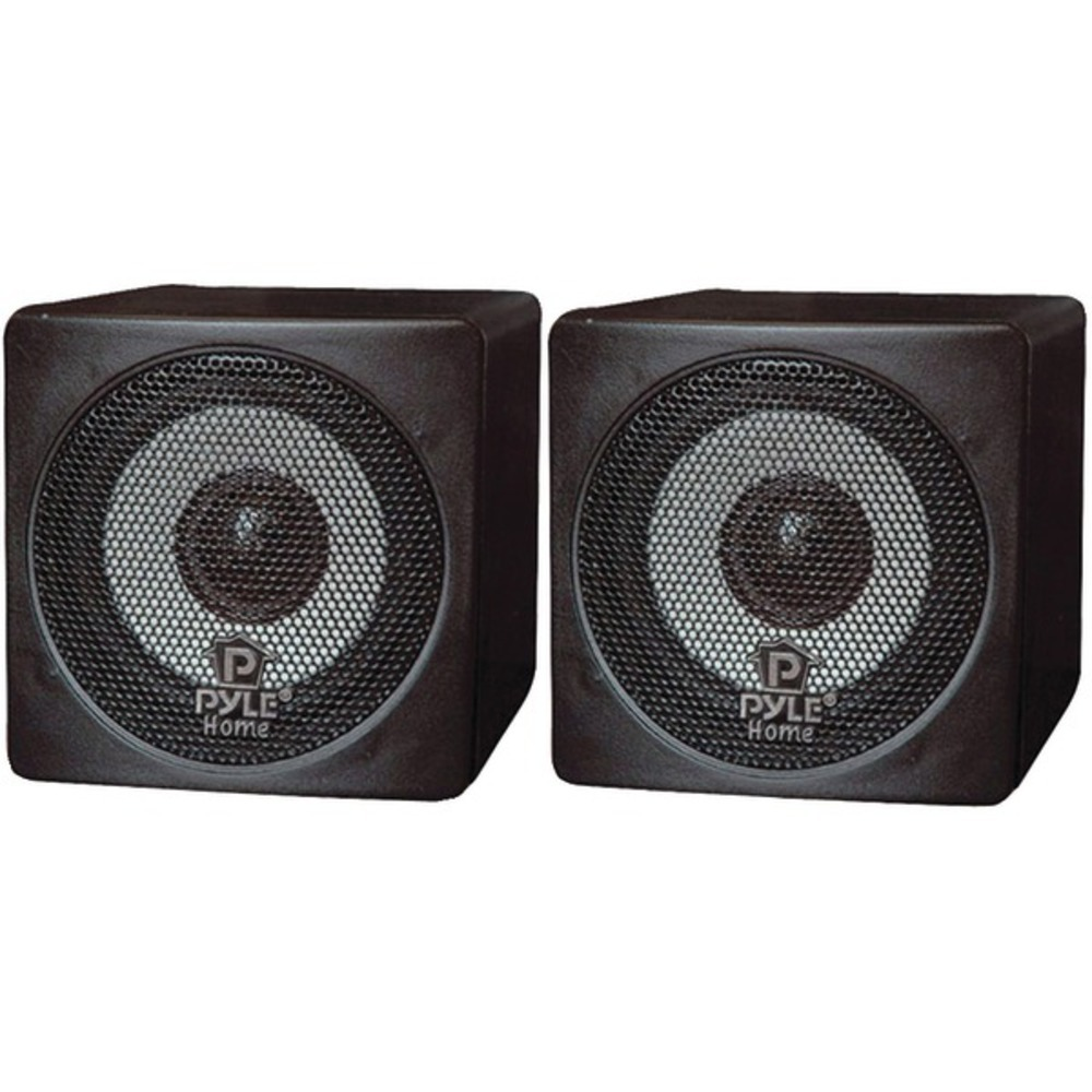 Pyle Home PCB3BK 3 100-Watt Mini-Cube Bookshelf Speakers (Black)