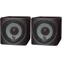 Pyle Home PCB3BK 3 100-Watt Mini-Cube Bookshelf Speakers (Black) - $66.93 CAD