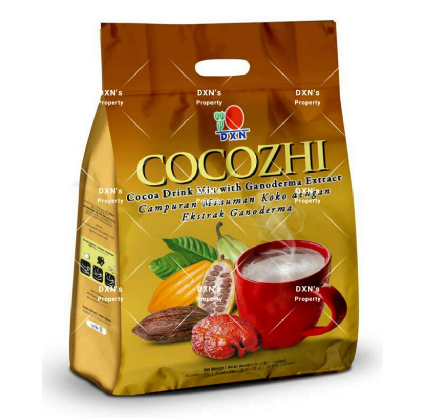 5 Boxes DXN Cocozhi Ganoderma Cocoa Drink 20 Sachets ( EXPRESS SHIPPING )  - $85.00