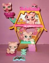 Littlest Pet Shop LPS Cat Kitten #2619 #460 #1313 #1846 Kitty Play Set Lot - $30.00