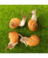 4 pcs Small Snail Cute Lifelike Fairy Garden Terrarium Decor Figurine An... - $7.99