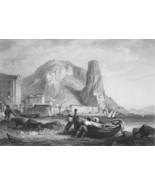 ITALY Terracina - 1864 Fine Quality Print Engraving - $49.50