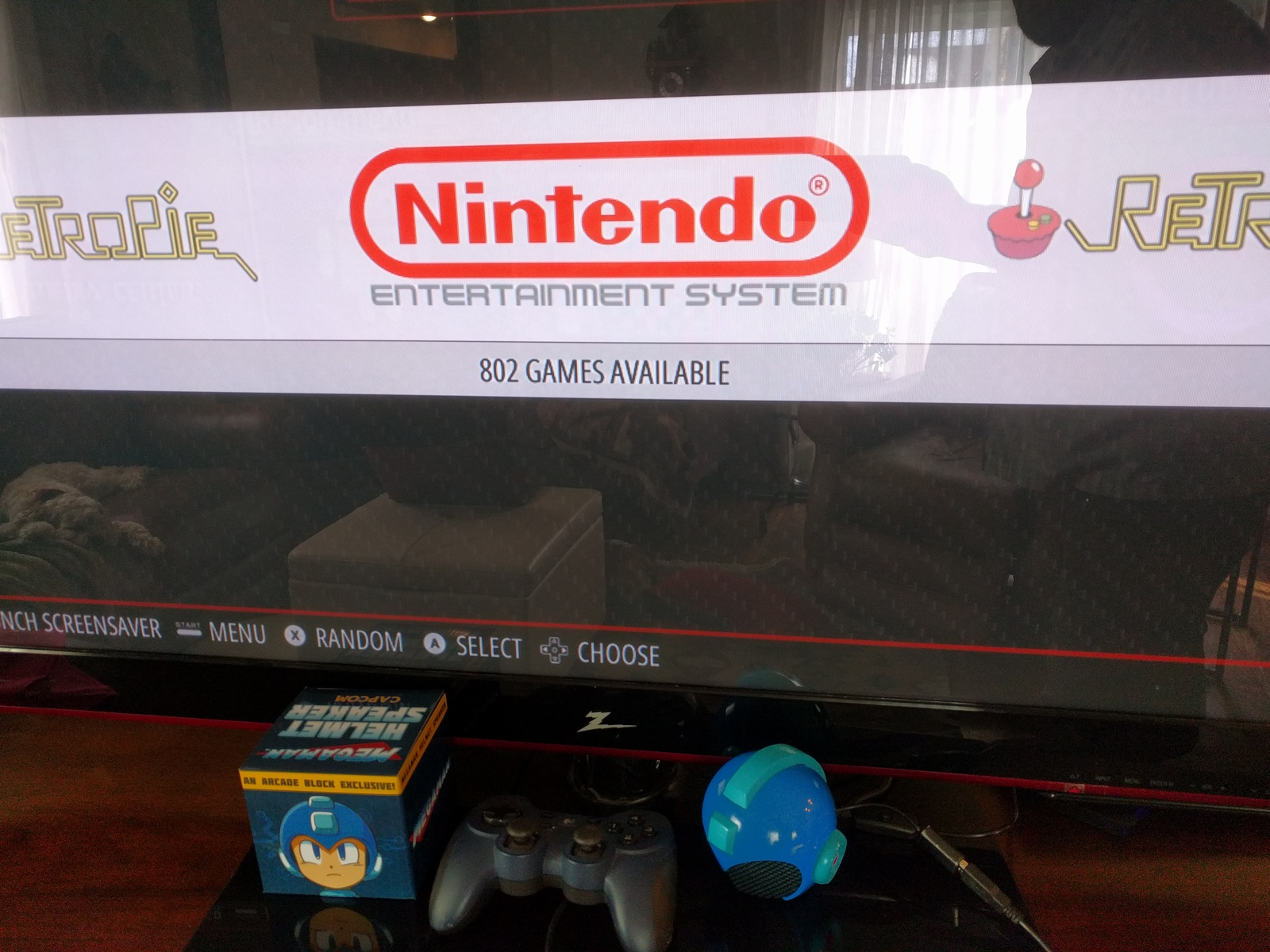 MegaMan Helmet gaming system w/ Raspberry Pi ZeroW installed.16GB SD and Games