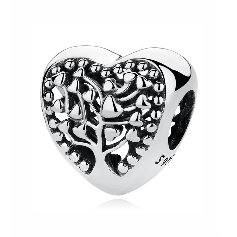 Buy Original 100% 925 Sterling Silver Charm Bead Flourishing Hearts Pendant