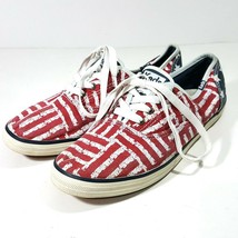 Keds Canvas Shoes Womens Size 7.5 Stars & Stripes Lace Up - $11.88