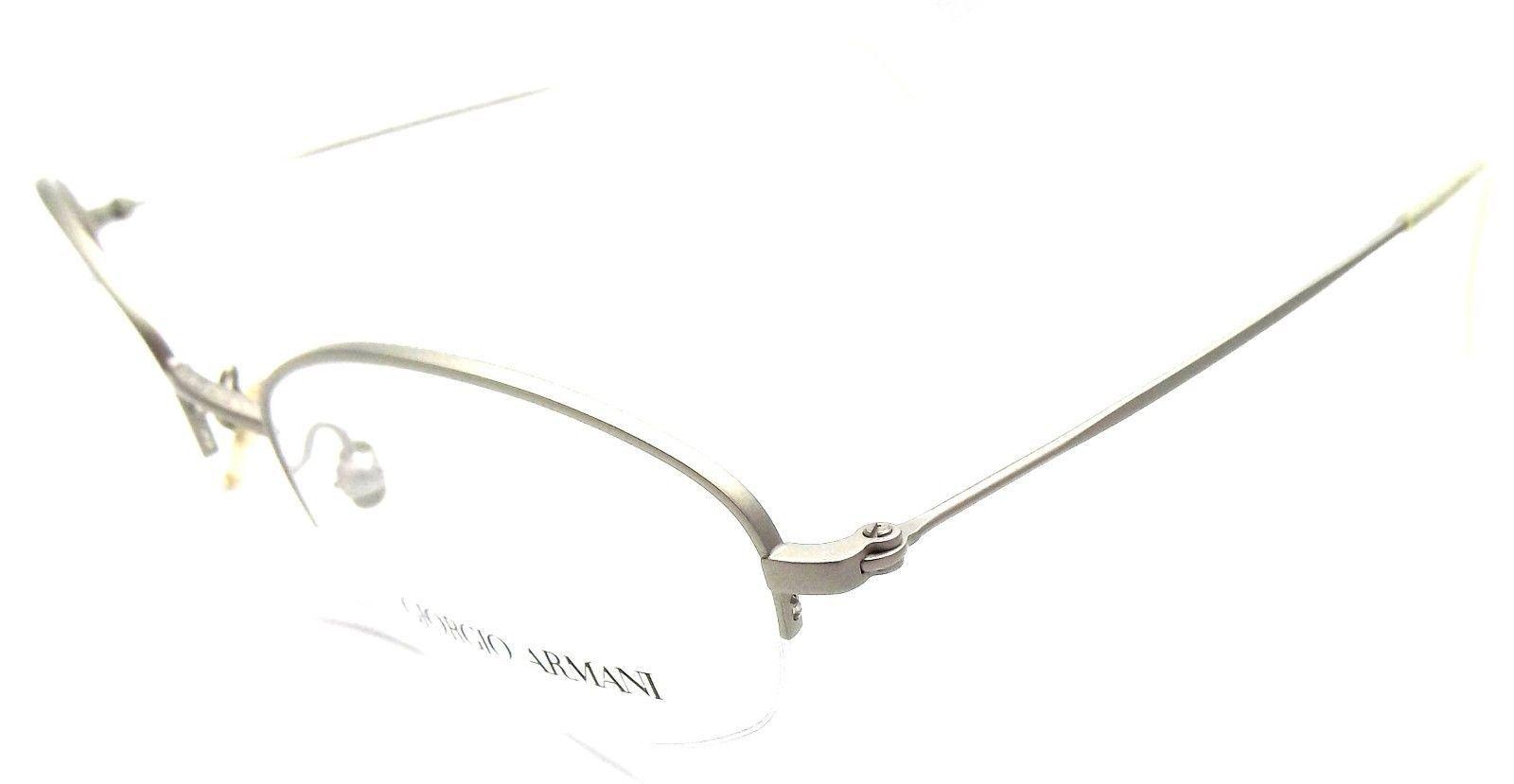 8bb18e34081e S l1600. S l1600. Giorgio Armani 1038 881 Rx Eyeglasses Frames Half Rim  48x20x135 Silver ITALY ...