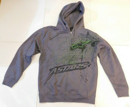 Alpinestars Gray Zip Front Hoodie Size Small BNWT - $44.99