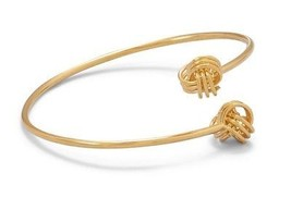 14kt Yellow Gold Flexible Knotted Bangle Bracelet Adjustable Length - $84.14