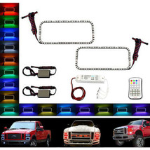 08-10 Ford F-250 Multi-Color Changing LED RGB Upper Headlight Halo Ring M7 Set - $129.95