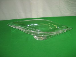 Art Glass Clear Crystal Centerpiece Large France Elegant - $46.71