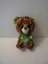 """Ty Beanie Boo """"Stripes"""" 9 inch Plush Tiger Animal w/ Green Eyes 2010 - $8.91"""