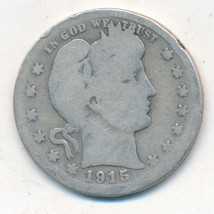 1915-S BARBER SILVER QUARTER-SEMI KEY DATE-NICE CIRCULATED COIN-FREE SHI... - $19.95