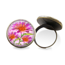 Pink Watercolor Flowers Ring - $14.95