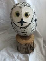 Richard Morgan The Painted Bird Carved Bird Decoys Snow Owl - $197.99