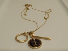 Lucky Brand Gold Tone Autumn Charm Necklace - New - $34.65
