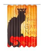 "Steinlen Chat Noir Fabric Shower Curtain 70""x72"" Museum Collection Polye... - $29.58"