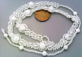 White Howlite Beaded Daisy Chain Necklace - $16.99