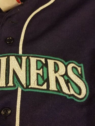 Vintage Made In USA Seattle Mariners Jersey Stitched Majestic MLB Baseball #6