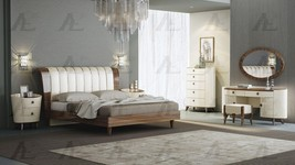 American Eagle P101-BED-Q Ivory Brown Rosewood Queen Size Bedroom Set 7Pcs - $4,253.15
