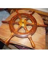 Teak Ship Helm Wheel / Wall Decor  (RP) - $99.00