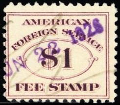 RK22, $1 Consular Service Revenue Stamp Cat $160.00 - Stuart Katz - $120.00