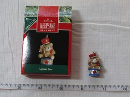 Hallmark  Keepsake Ornament Handcrafted Upbeat Bear Miniature 1991 Pre-Owned - $29.69