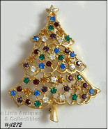 Signed Eisenberg Ice Christmas Tree Pin (#J1272) - $48.00