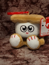 New Gund White Brown Marshmellow Smores Fleece Toy Keychain Backpack Clip  - $10.99