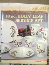 "10 pc. Holly Leaf Service Set ""Christmas Around The World"" #54-169 - NIB - $50.00"