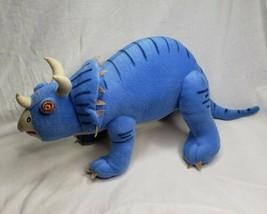 "Blue Triceratops Dinosaur Stuffed Animal Toy 10""X 25""  Whisper Soft Mills - $39.60"