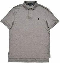 Polo Ralph Lauren GREY HEATHER Custom Slim Fit Interlock Polo Shirt, US ... - $37.95