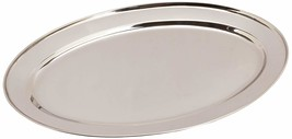 Winco OPL-18 Stainless Steel Oval Platter, 18-Inch by 11.5-Inch - $16.02