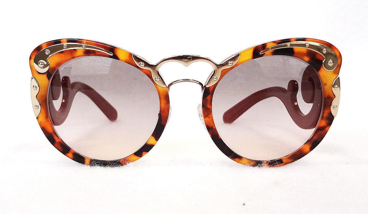 PRADA Women's Sunglasses PR07TS SPOT Tortoise/Red Acetate MADE IN ITALY - New!