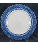Johnson Brothers Ice Blue Dinner Plate England Blue Basketweave Rim - $17.95