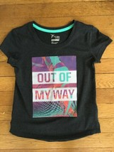 * Old Navy gray active go dry graphic short sleeve tee shirt Medium 8 girls - $4.51