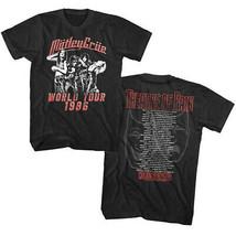 Motley Crue-Theatre Of Pain-World Tour 1986-X-Large Black T-shirt - $22.24