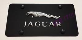 Jaguar 3D Black Stainless Steel Heavy Duty 1mm License plate Frame W Bolts - $38.12